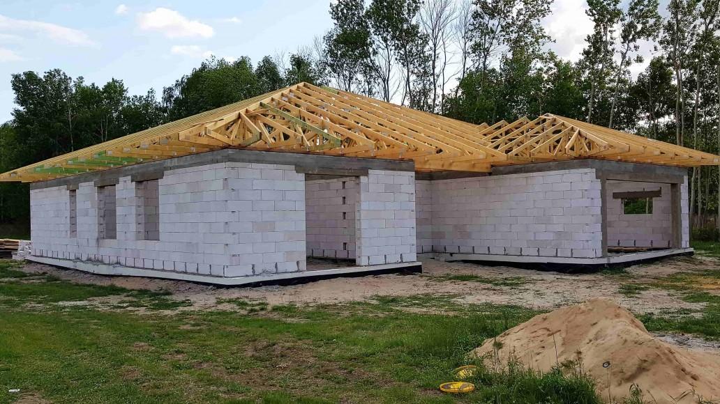 dach domu w ludwikowie