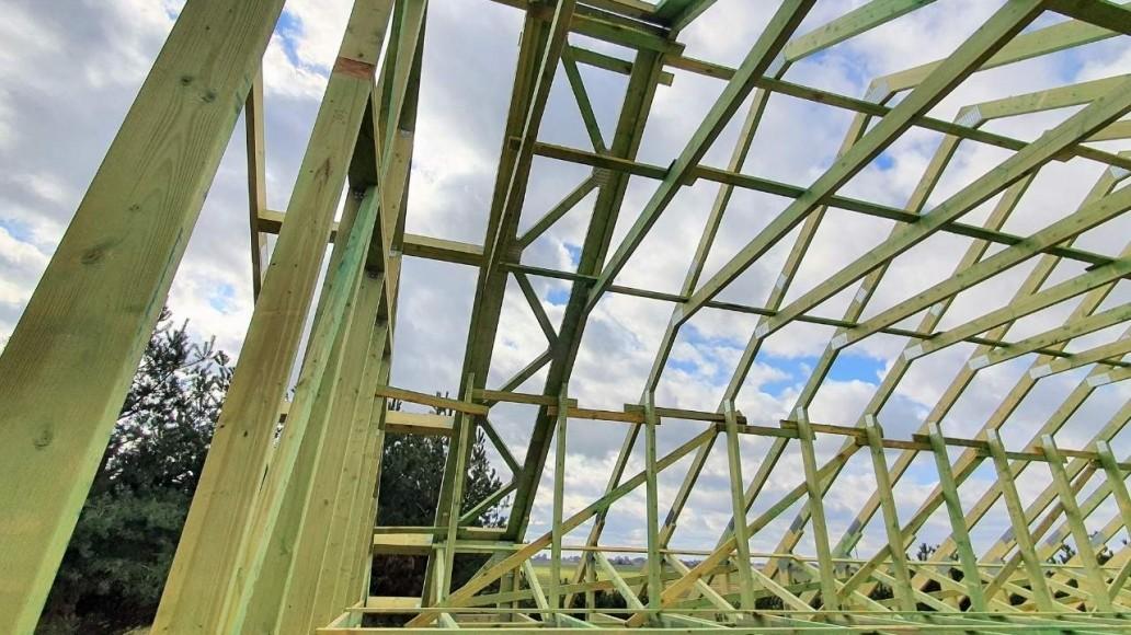 konstrukcja dachu domu świątniki(2)