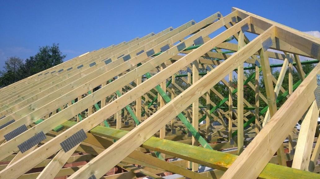 konstrukcja dachu domu w Paprotni(1)