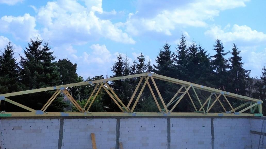 konstrukcja dachu pawilon handlowy leżajsk
