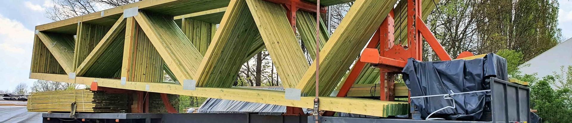 Bezpieczny transport prefabrykowanych elementów drewnianych od WPW Invest