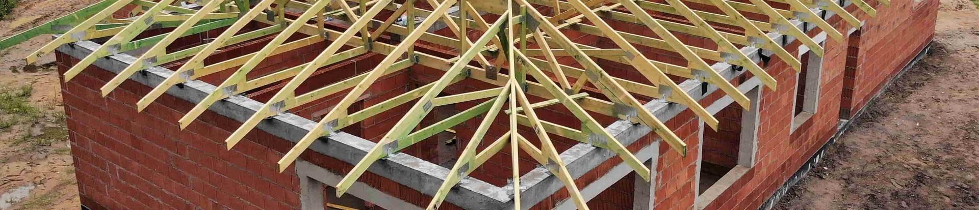 Dach domku jednorodzinnego w Łodzi