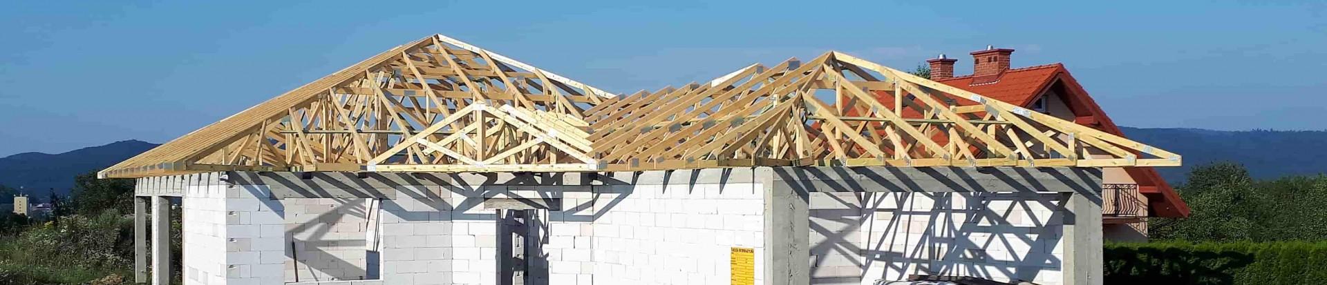 Realizacja konstrukcji dachowej domu w Sanoku