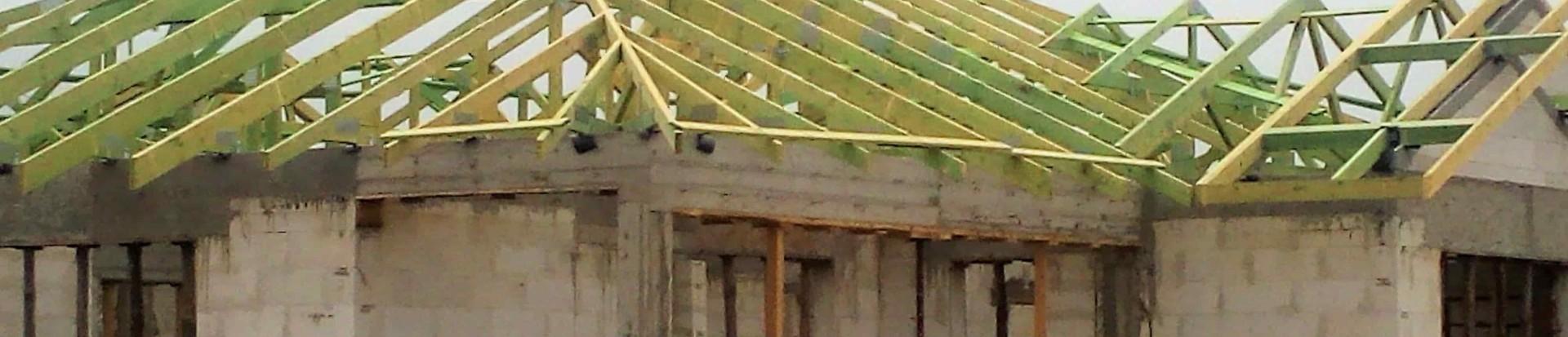 Montaż drewnianej konstrukcji dachowej w miejscowości Wolica