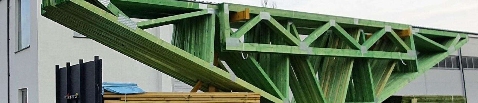 Transport prefabrykowanych wiązarów dachowych w WPW Invest