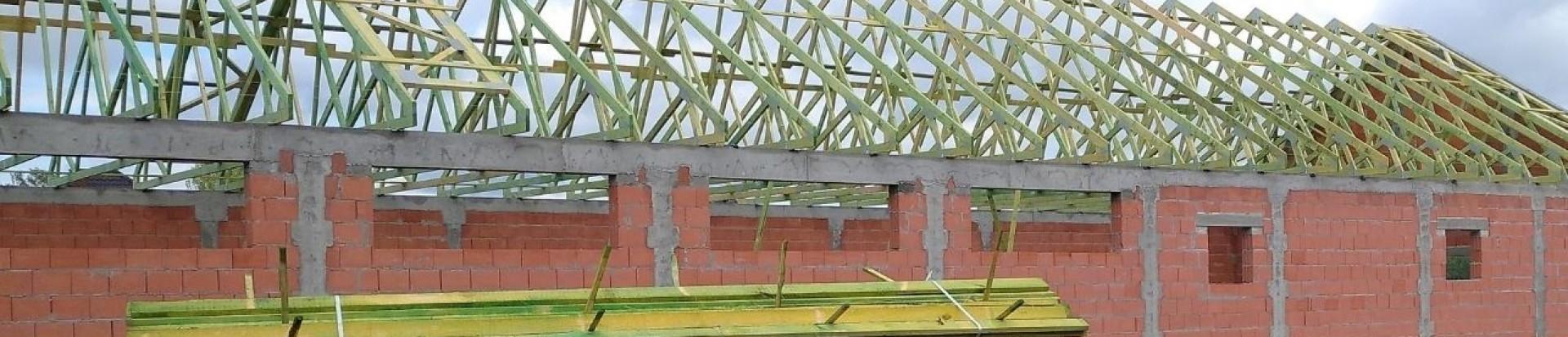 Prefabrykowana konstrukcja dachu pawilonu handlowego