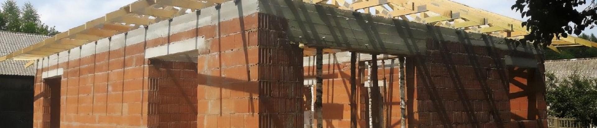 Wiązarowy dach prefabrykowany domu jednorodzinnego - Żądłowice