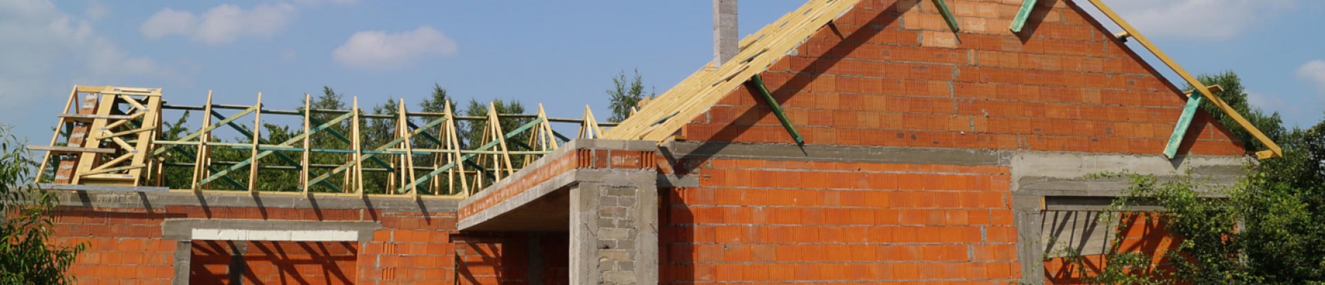 Dach budynku jednorodzinnego w m. Łódź