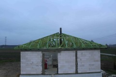 drewniana konstrukcja dachowa w zerominie 3