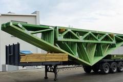 transport wiązarów drewnianych