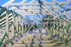 konstrukcja dachu domu w Paprotni(2)