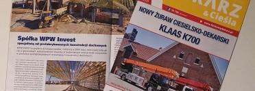 Artykuły o WPW Invest w Fachowym Dekarzu & Cieśli oraz na Fachowydekarz.pl!