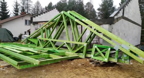 Prefabrykowana konstrukcja drewniana domu jednorodzinnego w miejscowości Karolina