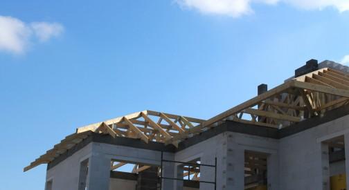 Konstrukcja dachu budynku mieszkalnego Łódź ul. Plonowa