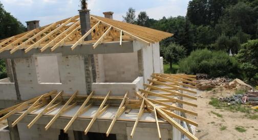 Konstrukcja dachu budynku mieszkalnego Łódź ul. Rudzka