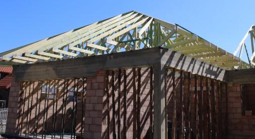Budowa więźby dachowej domu jednorodzinnego w miejsc. Czołczyn