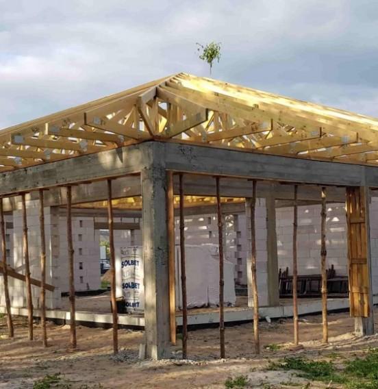 Realizacja dachu domku mieszkalnego w miejscowości Ludwików