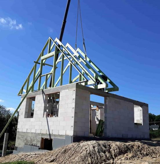 Realizacja dachu domu w Adamowie