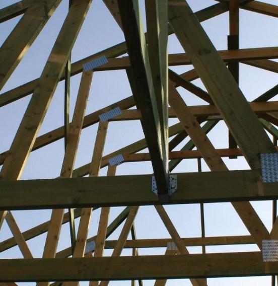 Konstrukacja dachu szkieletowego - ul. Kuźnicka w Łodzi