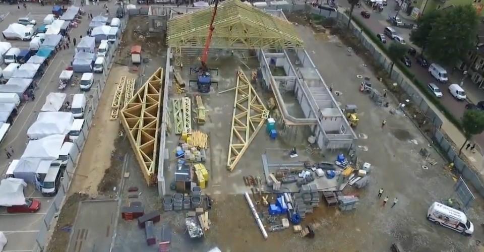 Realizacja dachu obiektu handlowego w Olkuszu